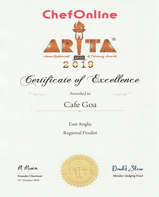 ARTA Finalists Cafe Goa